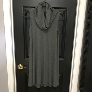 Tank dress with cowl neck
